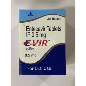 E-VIR TABLET 0.5MG